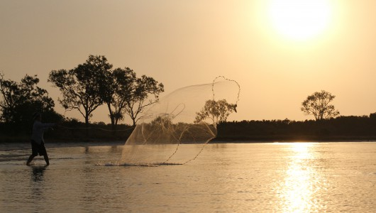 While in Northern Queensland cast nets are a must to get live bait fish for fishing